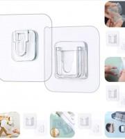 Double-sided Self Adhesive Wall Hooks 1 set= 5 Pair (Buy 2 set Get 1 set Free)
